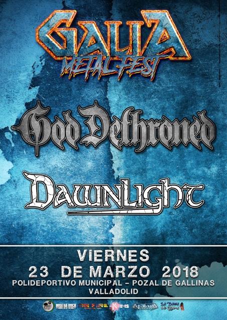Galia Metal Fest 2018 - God Dethroned y Dawnlight