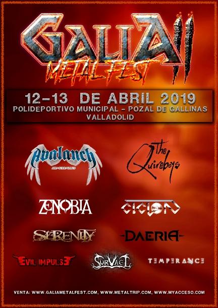 Primeras bandas confirmadas para el Galia Metal Fest II