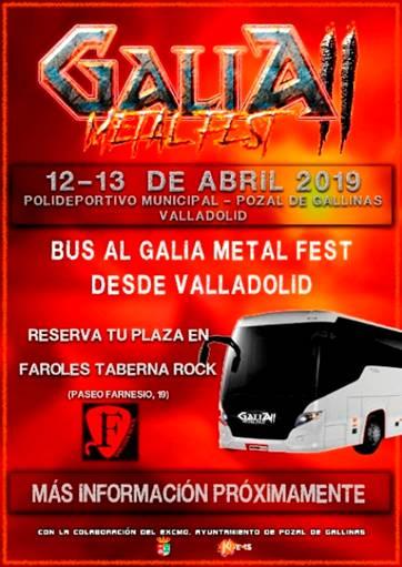 Galia Metal Fest 2019 - Bus desde/a Valladolid